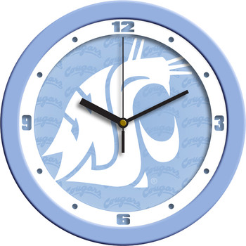 Washington State Cougars - Baby Blue Team Wall Clock
