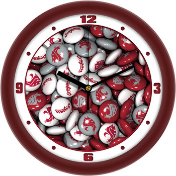 Washington State Cougars - Candy Team Wall Clock