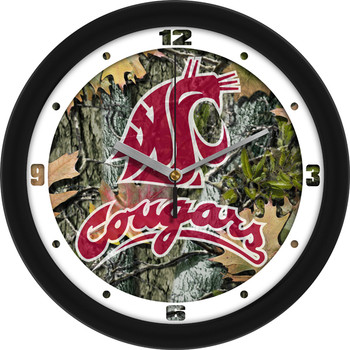 Washington State Cougars - Camo Team Wall Clock