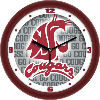 Washington State Cougars - Dimension Team Wall Clock