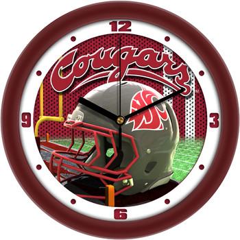 Washington State Cougars - Football Helmet Team Wall Clock