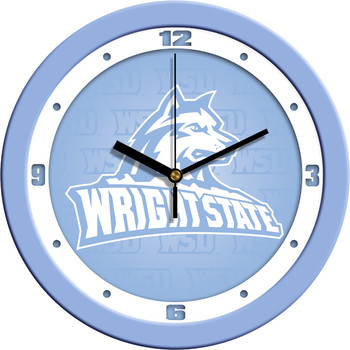 Wright State Raiders - Baby Blue Team Wall Clock