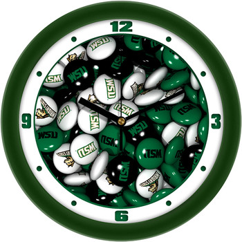 Wright State Raiders - Candy Team Wall Clock