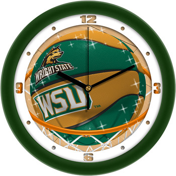 Wright State Raiders - Slam Dunk Team Wall Clock