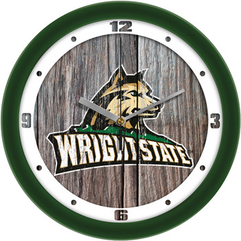 Wright State Raiders - Weathered Wood Team Wall Clock