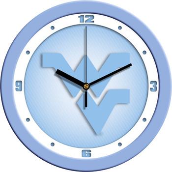 West Virginia Mountaineers - Baby Blue Team Wall Clock