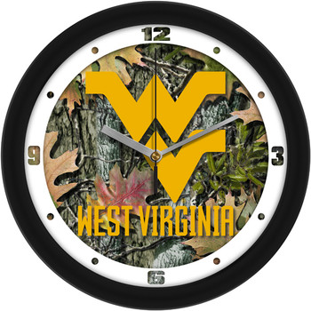 West Virginia Mountaineers - Camo Team Wall Clock