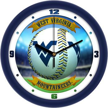 West Virginia Mountaineers - Home Run Team Wall Clock