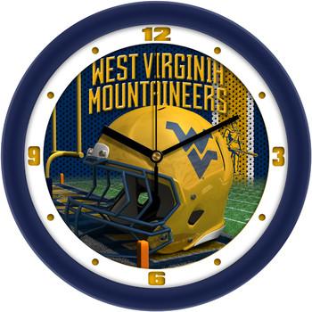 West Virginia Mountaineers - Football Helmet Team Wall Clock