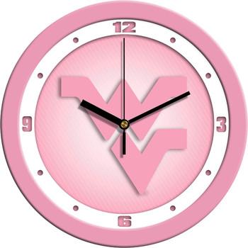 West Virginia Mountaineers - Pink Team Wall Clock