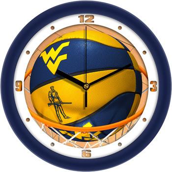 West Virginia Mountaineers - Slam Dunk Team Wall Clock