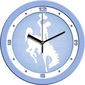 Wyoming Cowboys - Baby Blue Team Wall Clock
