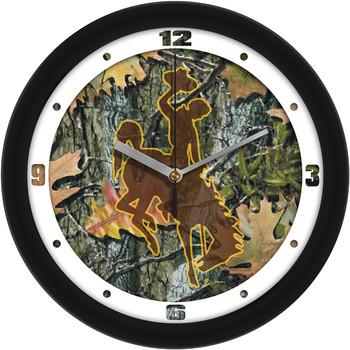 Wyoming Cowboys - Camo Team Wall Clock