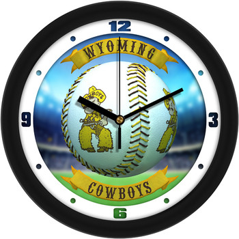 Wyoming Cowboys - Home Run Team Wall Clock