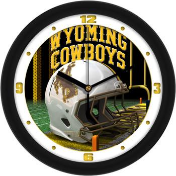 Wyoming Cowboys - Football Helmet Team Wall Clock
