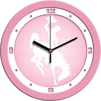 Wyoming Cowboys - Pink Team Wall Clock
