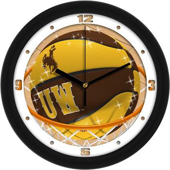 Wyoming Cowboys - Slam Dunk Team Wall Clock