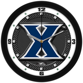 Xavier Musketeers - Carbon Fiber Textured Team Wall Clock