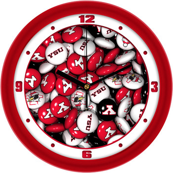 Youngstown State Penguins - Candy Team Wall Clock