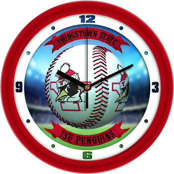Youngstown State Penguins - Home Run Team Wall Clock