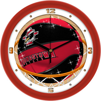 Youngstown State Penguins - Slam Dunk Team Wall Clock