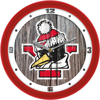 Youngstown State Penguins - Weathered Wood Team Wall Clock