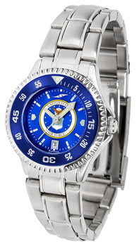 Ladies' US Air Force - Competitor Steel AnoChrome - Color Bezel Watch