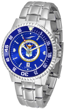 Men's US Air Force - Competitor Steel AnoChrome - Color Bezel Watch