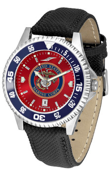 Men's US Marines - Competitor AnoChrome - Color Bezel Watch