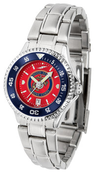 Ladies' US Marines - Competitor Steel AnoChrome - Color Bezel Watch