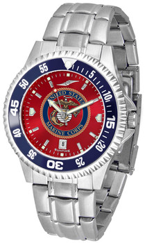 Men's US Marines - Competitor Steel AnoChrome - Color Bezel Watch