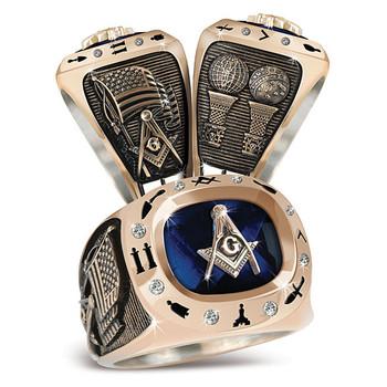 Masonic Birthstone Rings