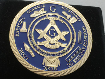 MASTER MASON COIN HUGE 2 INCH FULL COLOR