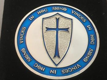KNIGHT TEMPLAR MASON COIN SIILVER BLUE