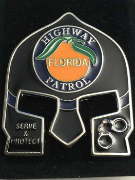 FHP WARRIOR COIN BLACK FACE PATCH