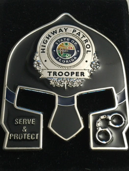 FHP WARRIOR COIN BLACK FACE SILVER BADGE