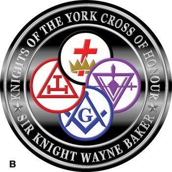 KNIGHTS OF THE YORK CROSS OF HONOUR CROWN 4 COMBINED