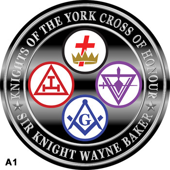 KNIGHTS OF THE YORK CROSS OF HONOUR CROWN 4 SEPERATE