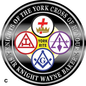 KNIGHTS OF THE YORK CROSS OF HONOUR CROWN 4 WORDING