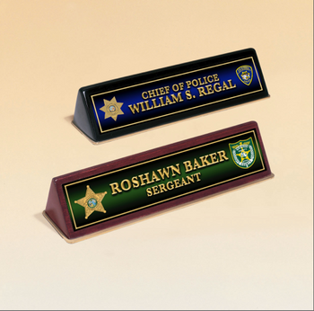 Full Color Desk Name Plate