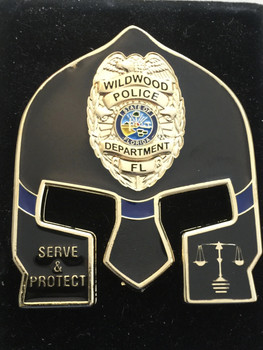 WILDWOOD POLICE FL WARRIOR  BLACK FACE COIN