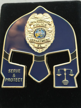 WILDWOOD POLICE FL WARRIOR  BLUE FACE COIN