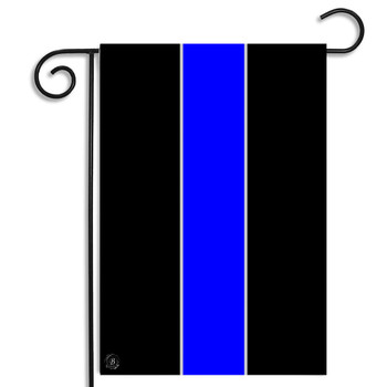 Thin Blue Line of law Enforcement Garden Flag
