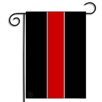 Thin Red Line for Firefighters Garden Flag