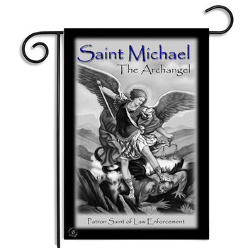 St. Michael Patron Saint of law Enforcement Garden Flag
