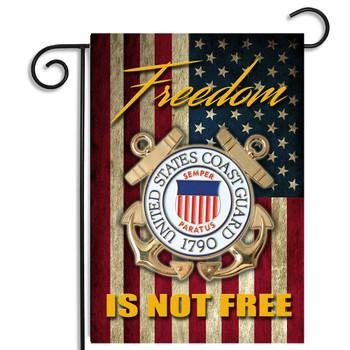 Coast Guard Freedom Isn't Free Garden Flag