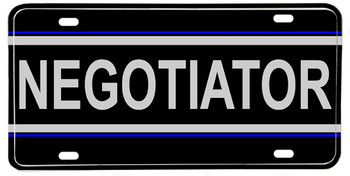 Police Sheriff NEGOTIATOR Aluminum License plate