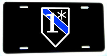 One Ass To Risk 1* Thin Blue Line Aluminum License plate