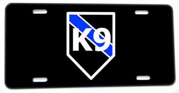 Thin Blue Line K9 Canine Aluminum License plate