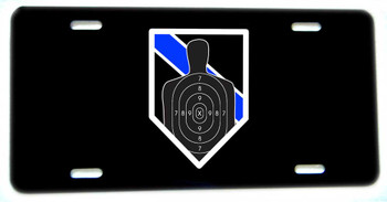 Thin Blue Line Firearms B27 Target Aluminum License plate